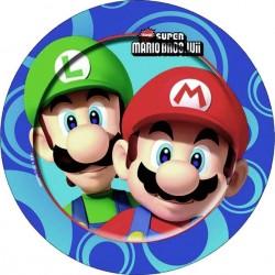 8 Assiettes en carton Mario