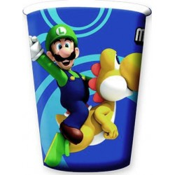 8 gobelets carton Mario