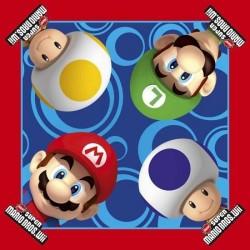 16 serviettes en papier Mario