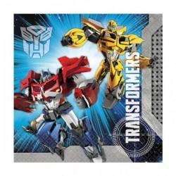 20 serviettes Transformers