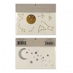 Tatouages Lune et étoile