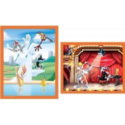 """Puzzle 2 x 25 pièces Looney Tunes """"A la piscine et sur scène"""""""