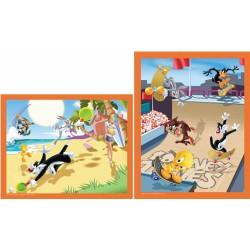 Puzzle Looney Tunes 2X25 pièces
