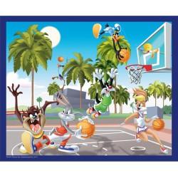 Puzzle Looney Tunes 60 pièces - Partie de basket