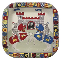 12 Assiettes Chevaliers de la table Ronde