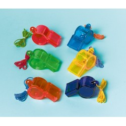 12 sifflets enfants multicolores