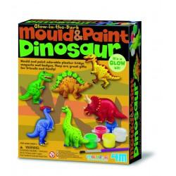 Kit de moulage et peinture Dinosaures fluorescents