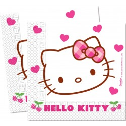 20 Serviettes en papier Hello Kitty