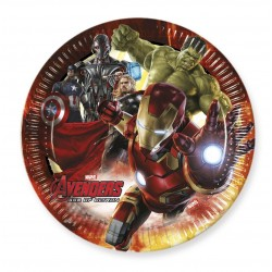 8 Assiettes en carton new Avengers