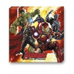 20 Serviettes Avengers en papier - L'ère d'Ultron