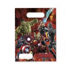 6 sacs cadeaux Avengers