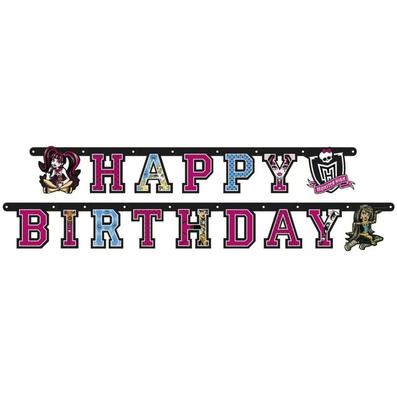 Guirlande anniversaire Monster High
