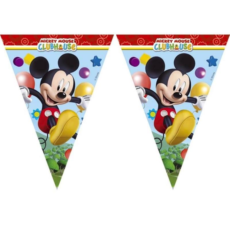 Guirlande fanions Mickey - 2,3 m