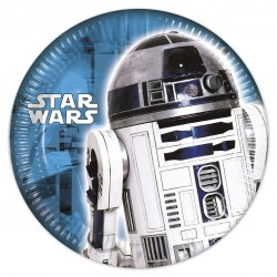 8 Assiettes Star Wars - R2D2