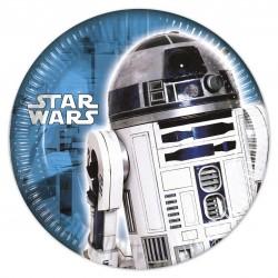 8 Assiettes Star Wars - R2D2