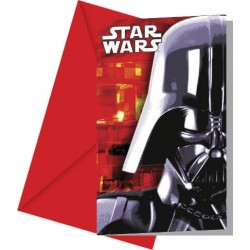 6 Invitations Anniversaire Star Wars