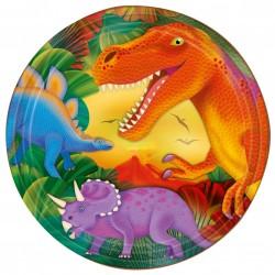 8 Assiettes jetables Dinosaures