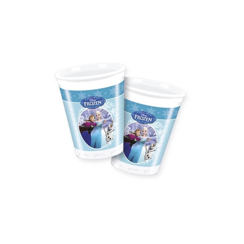 8 gobelets en plastique Reine des neiges
