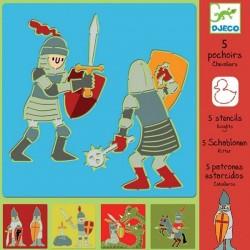 5 Pochoirs Chevaliers - Djeco