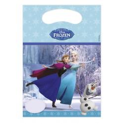 6 sacs cadeaux Reine des Neiges sur glace
