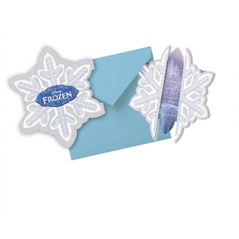 carte d'invitation anniversaire reine des neiges