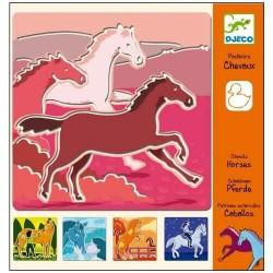 5 pochoirs chevaux - Djeco