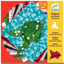 Origami - 100 feuilles imprimées