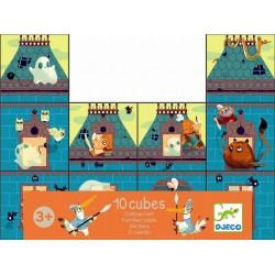 10 cubes château fort - Djeco puzzle