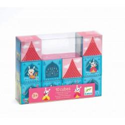 10 cubes de construction château princesse