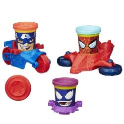 Véhicules Pâte à modeler Captain America, Spider-Man et Venom