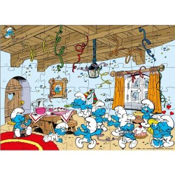 Grand Puzzle Schtroumpf Happy Birthday - 48 pieces