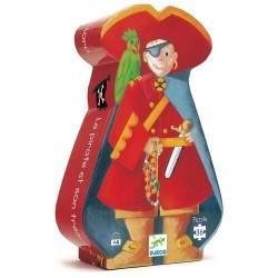 """Puzzle Djeco """"Le pirate et son trésor"""" 36 pièces"""
