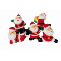 5 figurines Père Noël pour gâteau