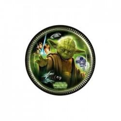 8 petites assiettes Star Wars - Yoda
