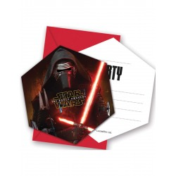 6 Invitations Star Wars 7