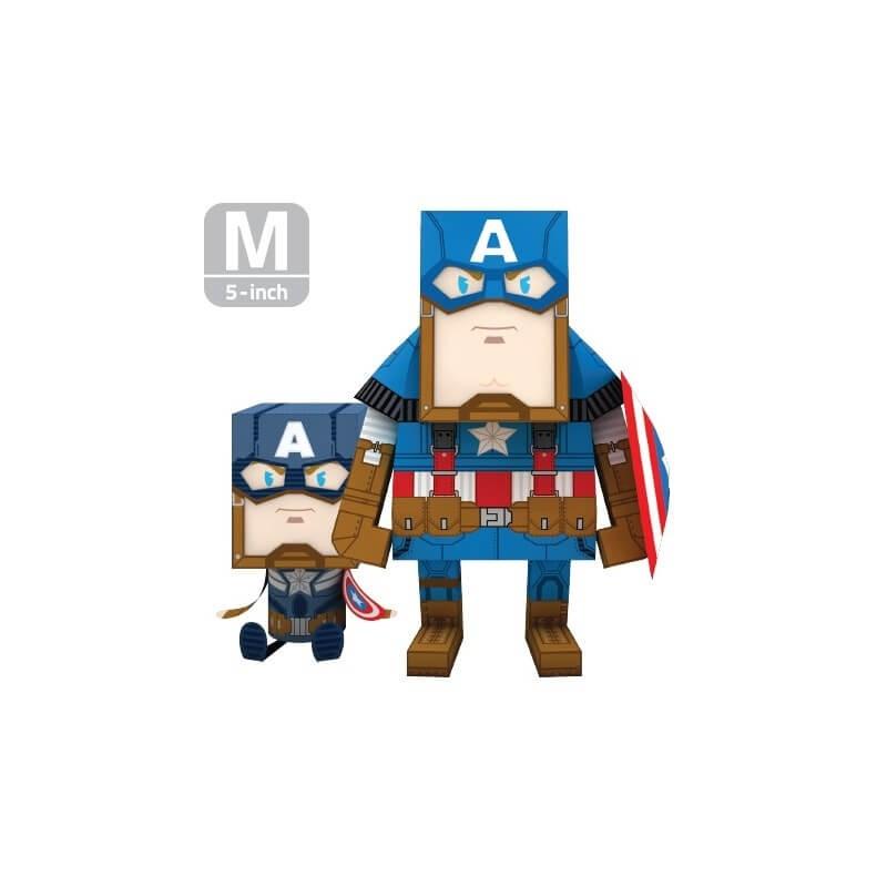 CAPTAIN AMERICA - SOLDAT D'HIVER M (13 CM ) - PAPER TOY MOMOT
