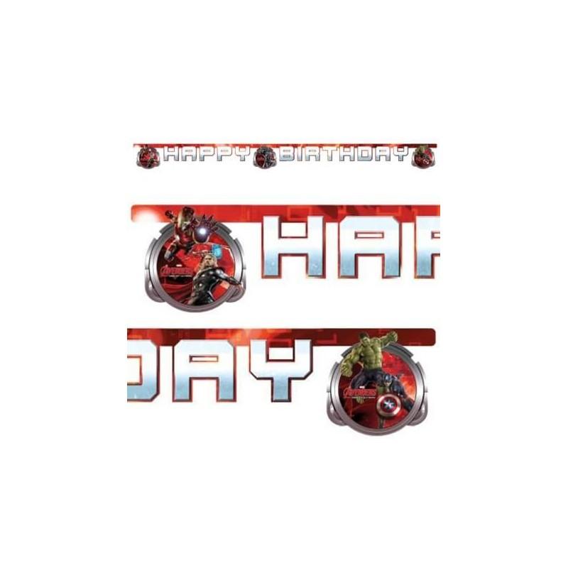 Guirlande Happy Birthday Avengers - Age of Ultron