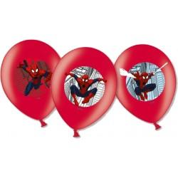 6 Ballons de baudruche Spiderman™ imprimés couleurs
