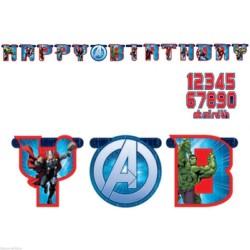 Guirlande anniversaire Avengers personnalisable