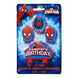 4 Bougies d'anniversaire Spiderman