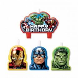 4 Bougies anniversaire Avengers