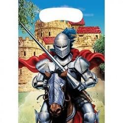 6 pochettes cadeaux chevaliers