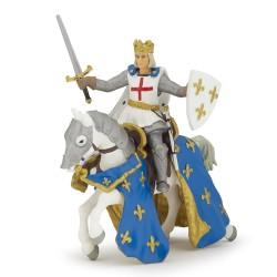 Figurine St Louis et son cheval