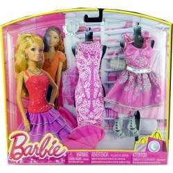 3 tenues de soirée Barbie fashionista