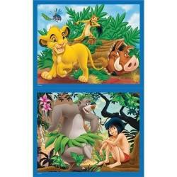 2 puzzles Disney 25 pièces - Le livre de la Jungle et le roi Lion