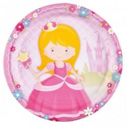 8 grandes assiettes en carton Little Princesse