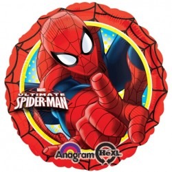 Grand ballon rond Helium Spiderman 43 cm
