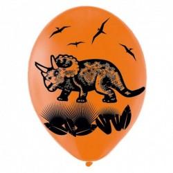 Ballons de baudruche : 6 ballons dinosaures