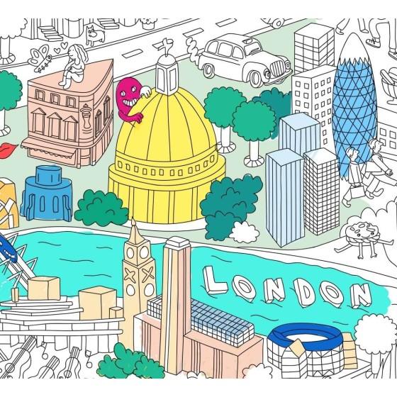 Poster Londres géant à colorier - 100 x 70