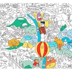 POSTER OMY à colorier - FRANCE - 100 x 70 cm